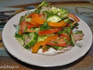 Салат Зимнее утро с помидорами