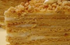 Медовый торт со сметанным кремом и его приготовление