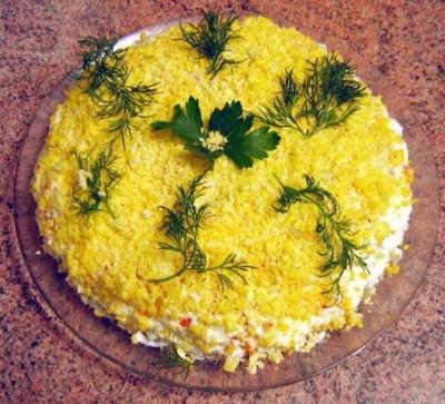 салат мимоза