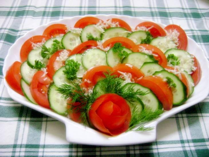 Рецепт салата из овощей простые