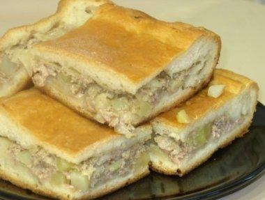 Рецепт, как пирог с мясом и картошкой можно приготовить