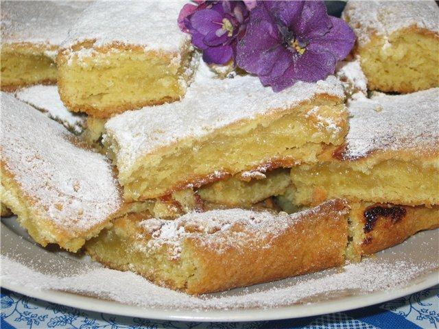 Лимонный пирог из слоёного теста рецепт