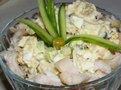 вкусный рыбный салат из отварной рыбы рецепт