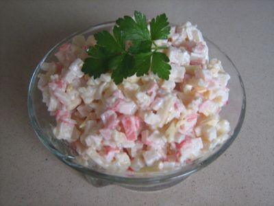 Рецепт классического крабового салата