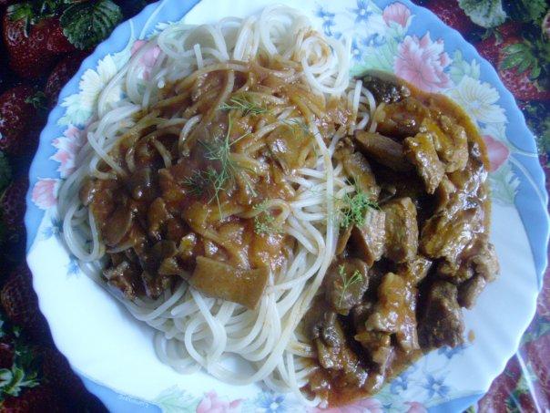 Спагетти с мясом