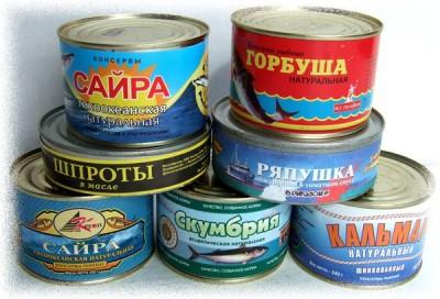 Рецепт салата из рыбных консервов