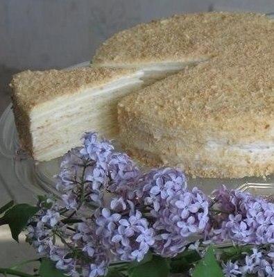 Сметанный торт и его приготовление