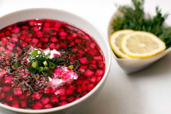Холодный борщ свекольник — идеальный летний суп