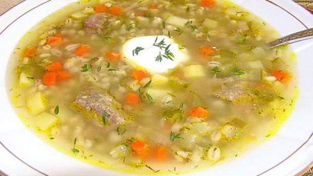 Суп с рассольник с рисом пошаговый рецепт с фото