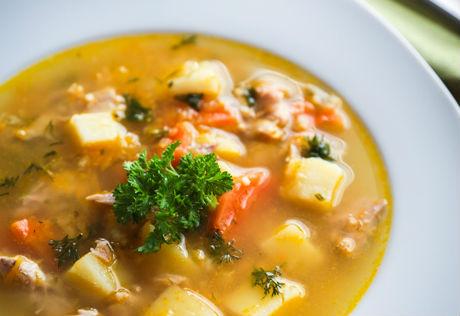 Суп гороховый со свининой — готовим просто и вкусно