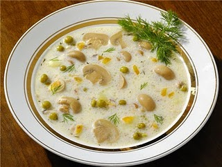 Простой рецепт сырного супа с грибами на примере