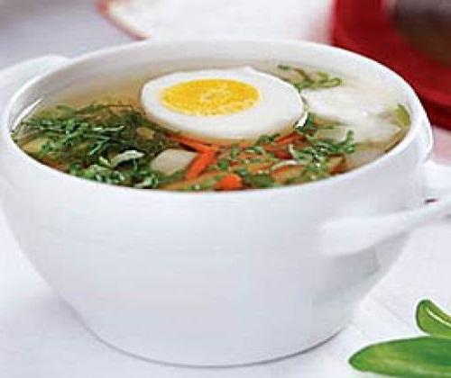 Вкусный и полезный куриный суп с яйцом