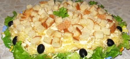 салат цезарь с курицей с майонезом