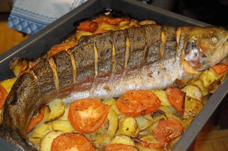 Как сделать форель в духовке
