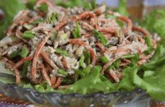 Морковь и печень для салата