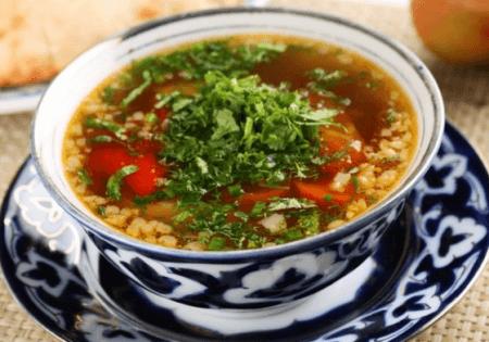 Восточное блюдо шурпа
