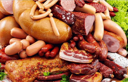 Колбасы в ассортименте