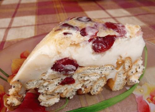 Торт на основе печенья