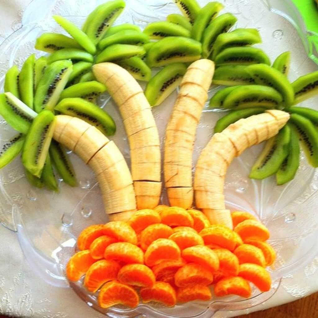апельсины фото нарезка бананы и