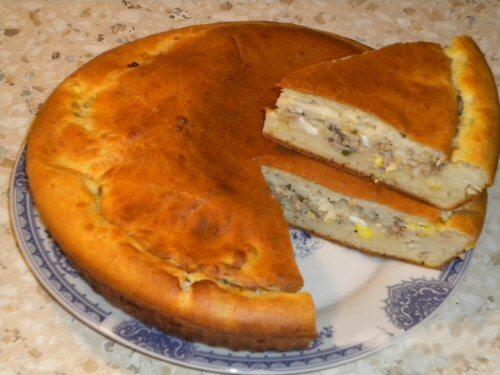 Пирог на сметанном тесте