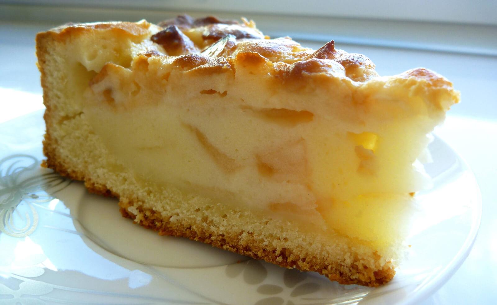Пирог с яблоками и маргарином рецепт пошагово в духовке