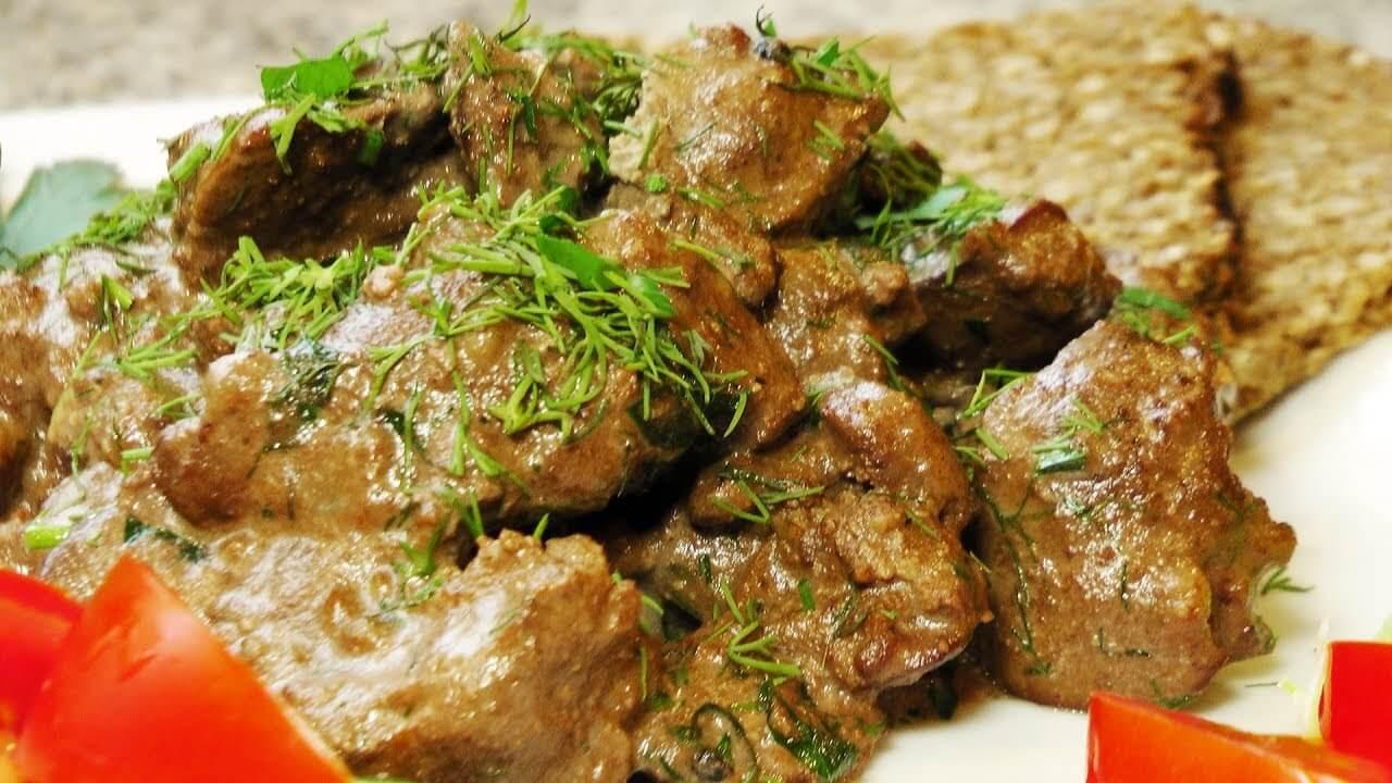 Рецепт приготовления жареной печени 139