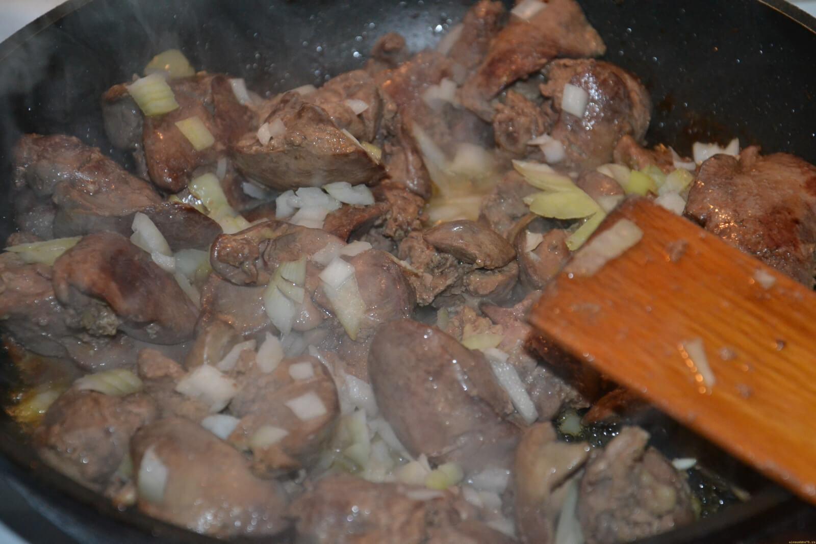 Печень свиная в сметане с луком рецепт пошагово