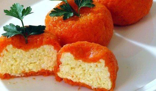 Мандаринки из морковки