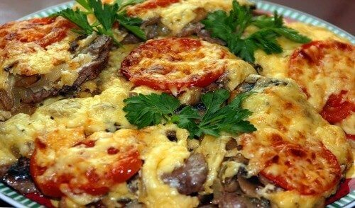 Рецепт свинины с картошкой и помидорами