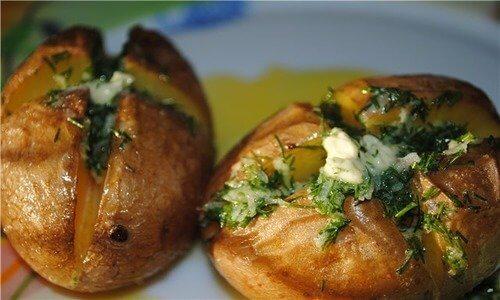 Рецепт запеченного картофеля с чесноком