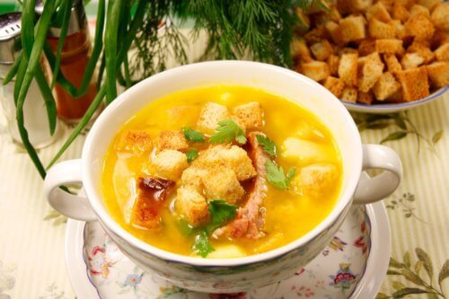 Подача супа
