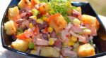 Салат: фасоль, кукуруза, сухарики, колбаса и его разновидности