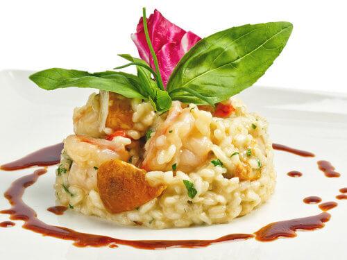 Сервировка блюд из риса
