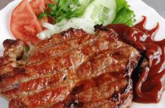 Классический стейк из свинины