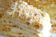 Слоеный торт с кремом