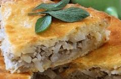 Пирог с рисом и фаршем